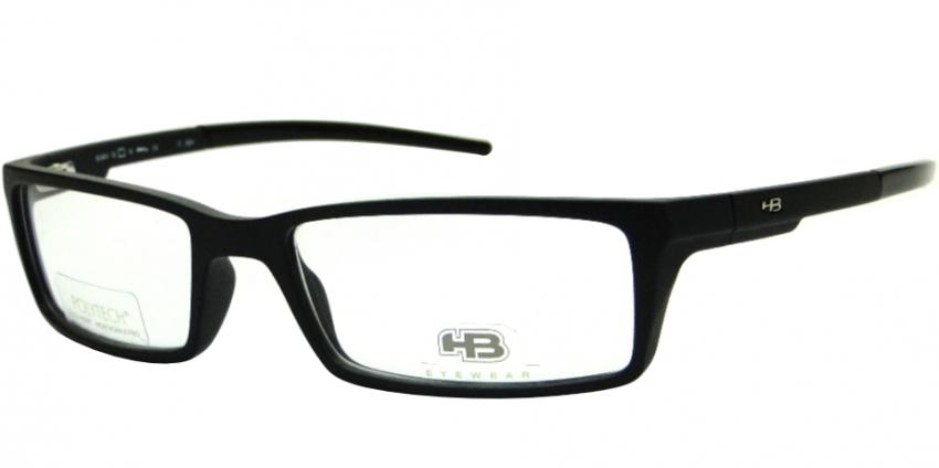 HB M.904 MATTE BLACK PRETO FOSCO - ÓCULOS DE GRAU