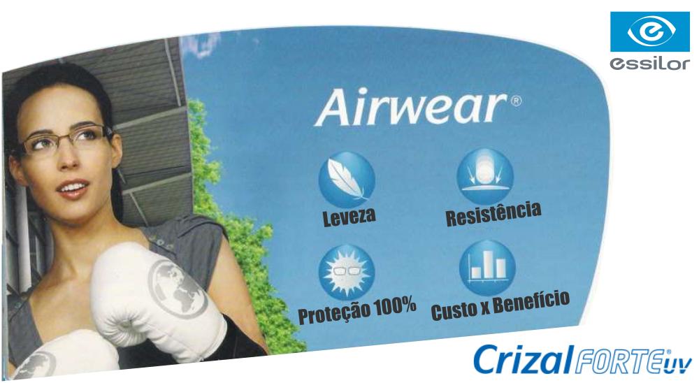 POLICARBONATO AIRWEAR 1.59 COM CRIZAL FORTE – ESSILOR   Ótica Achei Meus  Óculos f967e4c4a4