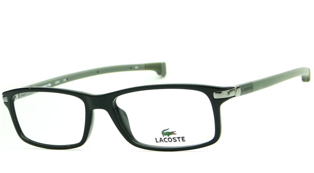 dc95ded1af680 Óculos de Grau Lacoste Masculino L2242 002 - Metal Preto. Óculos de Grau  Lacoste Masculino L2242 002 ...