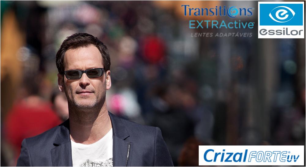 TRANSITIONS EXTRACTIVE COM CRIZAL FORTE – ESSILOR   Ótica Achei Meus Óculos a17c416f01