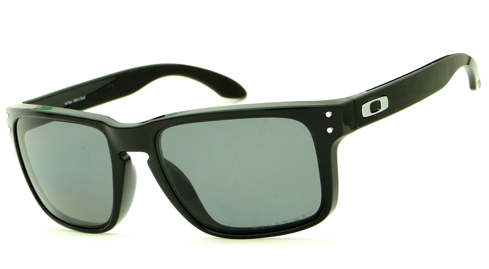 óculos Sol Oakley Polarizado Holbrook Polished Lentes Pretas ... a4f47dd58a